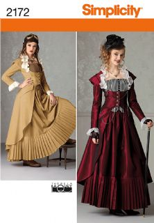 2172 Simplicity Pattern: Misses' Steampunk Costume
